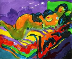 Nude 2 (Watercolor with ink and pigments on paper - 64 x 80 cm)