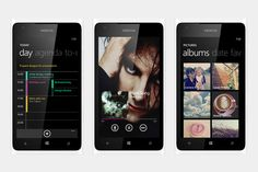 Windows Phone 7 interface concepts by Mike Guss.