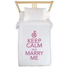 Keep Calm and Marry Me Twin Duvet