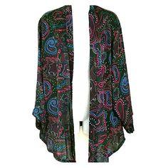 Paisley Kimono Robe SZ XL Versatile & colorful Paisley Kimono! Vintage Intimates & Sleepwear Robes