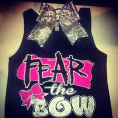 Customizable 'Fear the Bow' T-shirt or Tank with Matching Bow