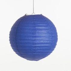 Lampion - Koningsblauw (30 cm & 40 cm), www.instyledecoraties.nl