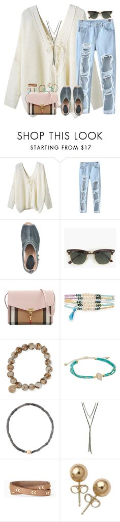 """""""If you don't know by now baby I'm crazy bout ya"""" by livnewell ❤ liked on Polyvore featuring WithChic, Chicnova Fashion, Earth, J.Crew, Burberry, Panacea, Sydney Evan, Chan Luu, Luis Morais and Gen Tribe"""
