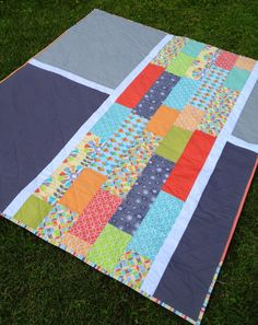 Love this pieced quilt back Big Block Quilts, Strip Quilts, Quilt Blocks, Quilting Tutorials, Quilting Projects, Quilting Designs, Backing A Quilt, Quilt Border, Modern Quilt Patterns