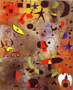 Constelação: despertar ao amanhecer. 1941. Joan Miró (1893-1983). Encontra-se em uma coleção particular.
