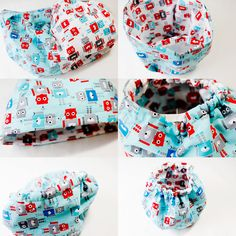 Toy bucket tutorial. Cute little bucket type drawstring bag.
