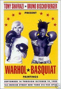 Warhol Basquiat Boxing Poster
