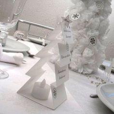 Décoration de table : Noel de papier