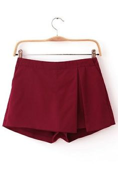 Irregular Suit Fabric Short in Red wine