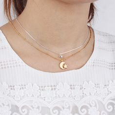 New Fashion Women Jewelry Gold and Silver Two Colors Plated Moon Star Pendant Necklace Jewellery-in Chain Necklaces from Jewelry & Accessories on Aliexpress.com | Alibaba Group