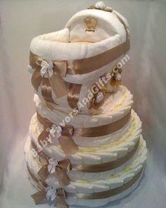 Bassinet on Diaper Cake