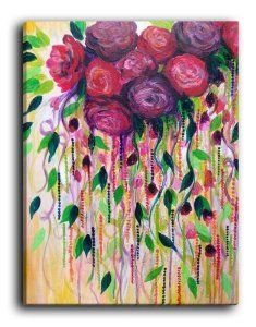 Items similar to ROSES ARE RAD Floral Fine Art Print, Gorgeous Abstract Acrylic Painting Red Roses Ochre Forest Green Bouquet Feminine Flowers Wall Decor on Etsy Art Floral, Floral Artwork, Red Throw Pillows, Floral Bouquets, Floral Flowers, Colorful Roses, Flower Art, Red Roses, Fine Art Prints