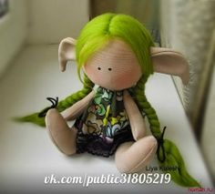 darling free elf doll from great site, instructions are excellent!