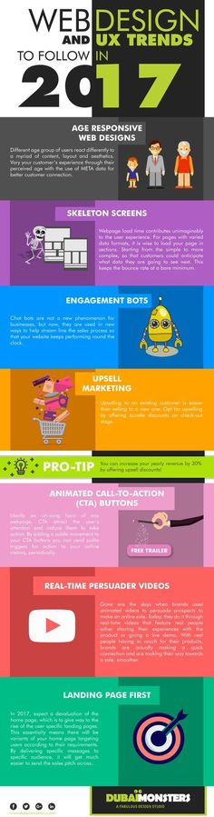 7 Web Design & UX Trends for 2017: Is Your Site Up to Date? #Infographic