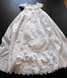 Victorian Christening Gown Vintage English by Vintagefrenchlinens We invite you to visit our shop on Etsy to see this gown and the many others beautiful Christening gowns we now have in stock. Plus we have a range of unusual French antique and vintage items for your home.
