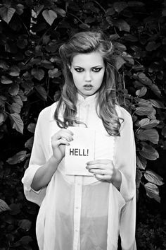Lindsey Wixson by Terry Richardson - Hell. Reminds me of an Ingmar Bergman film