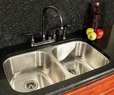 Kitchen sink...menards  Tuscany™ 50/50 Undermount Kitchen Sink