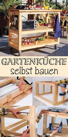 Diy - Upcycling Outdoor Küche Aus Einer Werkbank | Countertops ... Zubehoer Praktische Gartenkuche