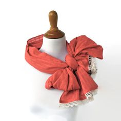 Get beautiful scarf and add smile :))))))) Light Pink #Scarf Plaid Lace Scarf #Bow Scarf by INTHEBAGDesign