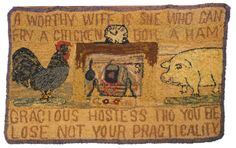 A Worthy Wife Is She Who Can Fry a Chicken, Boil a Ham, Gracious Hostess Though You Be, Lose Not Your Practicality. c1930