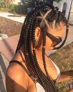 43 Cool Blonde Box Braids Hairstyles to Try - Hairstyles Trends Jumbo Box Braids Styles, Short Box Braids, Blonde Box Braids, Jumbo Braids, Twist Braids, Braid Styles, Big Braids, Twists, Black Box Braids