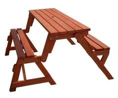 DIY Folding Bench and Picnic Table Combo #furniture