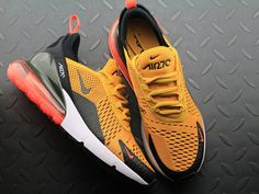 Nike Air Max 270 Flyknit Golden Black White Orange Men Running Shoes Mens  Nike Air 5a89460b5