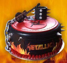Metallica Birthday Cake.