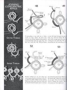 Joining Concentric Rings .....   Tatted Fashion, Teiko Fujito - Carmen Alvarado - Picasa Albums Web