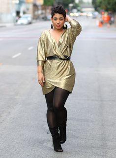 DIY Little Gold Dress - Mimi G Style