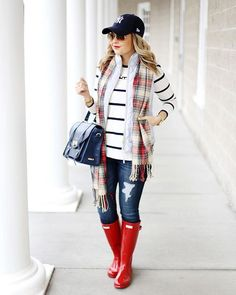 Did you catch today's post on the blog? @liketoknow.it www.liketk.it/25I6D #liketkit Casual Outfits For Work, Cute Rainy Day Outfits, Rainy Day Outfit For Work, Preppy Winter Outfits, Cute Fall Outfits, Stylish Outfits, Summer Outfits, Red Rain Boots, Snow Boots