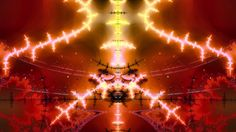 """""""Fractal Coliseum"""", (the visual result of pure Bible mathematics). Like a fiery pillar, Jesus rides His chariot led by four cherubim. The clouds and stars of heaven encircle Him (Dan 12:3); they resemble the ancient Roman Coliseum. They cheer for Him as He rides as the victor of the Coliseum games. Jesus is Lord of the storm! He holds the keys of death and hell! He approaches the finish line, (which is the dark bolt of lightning that stretches right to left)."""
