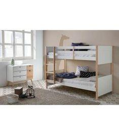 Comprar online Litera de estilo nórdico en madera de pino colección KIARA Bunk Beds, Furniture, Design, Home Decor, Products, Double Bunk, Ladder, Creature Comforts, Child Room
