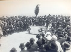 On the site of the [cornerstones of the] Hebrew University: Mr. Winston Churchill speaking; March, 1920 [29/3/1921]