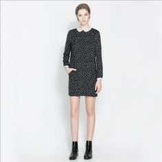 508 руб New winter Simple fashion long sleeve dot dress FREE SHIPPING-in Dresses from Apparel & Accessories on Aliexpress.com