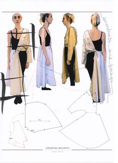 Fashion Sketchbook - fashion design development; pattern making; fashion portfolio // Valentina Desideri