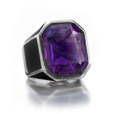 An Amethyst, Enamel and Silver Ring, by Boivin, circa 1930 - available at FD