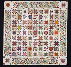 stars and sprigs, pattern by Kim McLean..awarded a second place ribbon