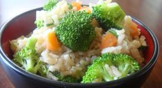 Rice and veggies  One of my fave combos