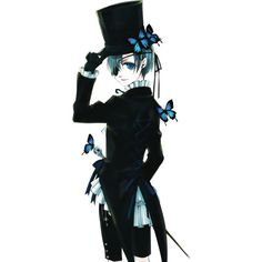 Render Kuroshitsuji Ciel Phantomhive Garcon Canne Papilion - Kuroshitsuji - Animes et Manga - PNG image sans fond - Posté par Ajisai - Telecharger le render Ciel Phantomhive, Grell Black Butler, Black Butler Kuroshitsuji, Fanart Manga, Manga Anime, Blue Exorcist, Platinum End, Book Of Circus, Hokusai