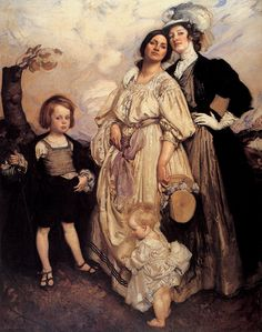 Portrait Group by George Lambert (Australian 1873-1930) One is a Wertheimer, the Lamberts were friends