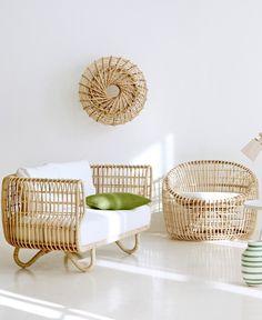 Rattan armchair NEST LOUNGE by Cane-line | #design Foersom & Hiort-Lorenzen @caneline