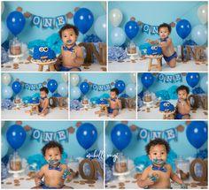 Diy 1st Birthday Cake, Monster Birthday Cakes, Monster 1st Birthdays, Baby Boy 1st Birthday Party, Twin First Birthday, First Birthdays, Baby Boy Cookies, Bryan College, 1st Birthday Photoshoot