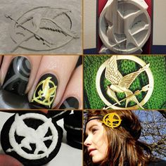 The Mockingjay pin: A fashion sensation. A symbol. An icon. Hunger Games Catching Fire, Hunger Games Trilogy, Mockingjay Pin, I Volunteer As Tribute, Mocking Jay, Game Google, Poker Games, 2 Movie, How To Do Nails