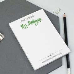 Personalised 'From The Desk Of'  Notepad, A6
