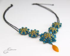 Artichoke Drop Necklace made from polymer clay and sterling silver by Eva Ehmeier, via Flickr