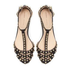 zara STUDDED SANDAL love these, want these for spring