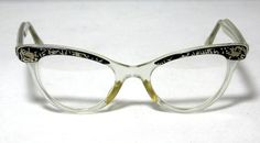 Cat Eye Glasses Sparkle Glitter Vintage by CollectableSpectacle, $89.00