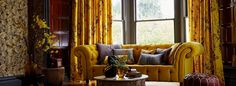 Harlequin fabrics and wallpapers - Callista by Clarissa Hulse - Available from Clark & English Harlequin Fabrics, House Blinds, Made To Measure Curtains, Decorating Your Home, Contemporary Design, Room Decor, House Design, Living Room, Interior Design