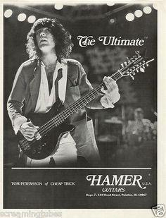 1979 Hamer Cheap Trick Tom Petersson Bass Guitar Print Ad | eBay